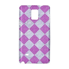 Square2 White Marble & Purple Colored Pencil Samsung Galaxy Note 4 Hardshell Case