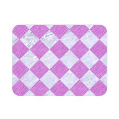 Square2 White Marble & Purple Colored Pencil Double Sided Flano Blanket (mini)