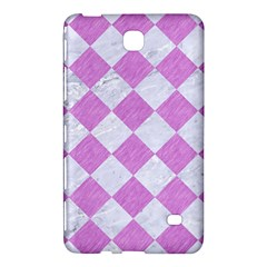 Square2 White Marble & Purple Colored Pencil Samsung Galaxy Tab 4 (7 ) Hardshell Case  by trendistuff