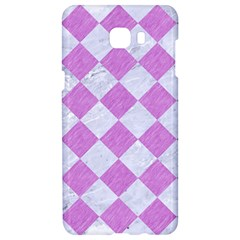 Square2 White Marble & Purple Colored Pencil Samsung C9 Pro Hardshell Case