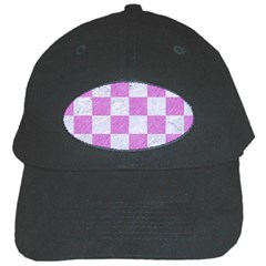 Square1 White Marble & Purple Colored Pencil Black Cap