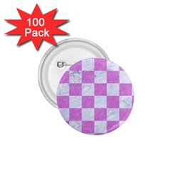 Square1 White Marble & Purple Colored Pencil 1 75  Buttons (100 Pack)