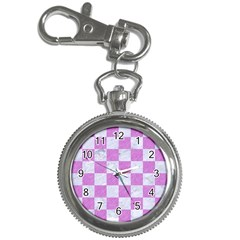Square1 White Marble & Purple Colored Pencil Key Chain Watches