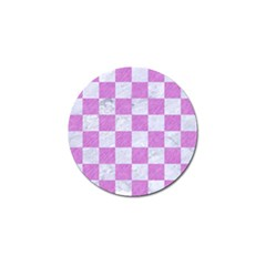 Square1 White Marble & Purple Colored Pencil Golf Ball Marker (10 Pack) by trendistuff