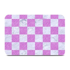 Square1 White Marble & Purple Colored Pencil Plate Mats by trendistuff