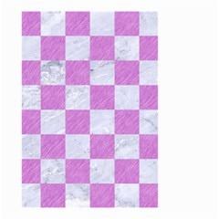 Square1 White Marble & Purple Colored Pencil Small Garden Flag (two Sides)