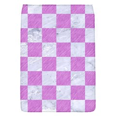 Square1 White Marble & Purple Colored Pencil Flap Covers (s)