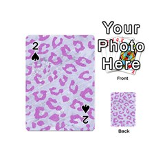 Skin5 White Marble & Purple Colored Pencil Playing Cards 54 (mini)  by trendistuff