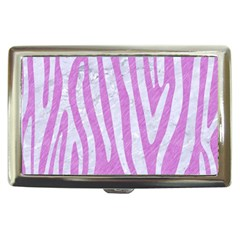 Skin4 White Marble & Purple Colored Pencil (r) Cigarette Money Cases by trendistuff
