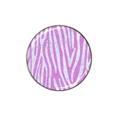 Skin4 White Marble & Purple Colored Pencil (r) Hat Clip Ball Marker (4 Pack)