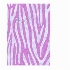 Skin4 White Marble & Purple Colored Pencil (r) Large Garden Flag (two Sides)