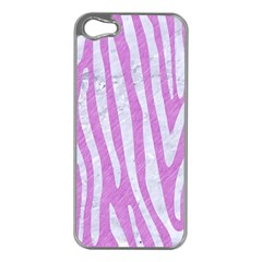 Skin4 White Marble & Purple Colored Pencil (r) Apple Iphone 5 Case (silver)