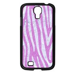 Skin4 White Marble & Purple Colored Pencil (r) Samsung Galaxy S4 I9500/ I9505 Case (black)