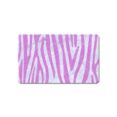 Skin4 White Marble & Purple Colored Pencil Magnet (name Card)