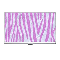 Skin4 White Marble & Purple Colored Pencil Business Card Holders