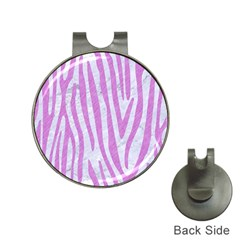 Skin4 White Marble & Purple Colored Pencil Hat Clips With Golf Markers