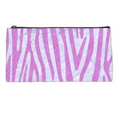 Skin4 White Marble & Purple Colored Pencil Pencil Cases