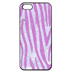 Skin4 White Marble & Purple Colored Pencil Apple Iphone 5 Seamless Case (black)