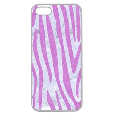 Skin4 White Marble & Purple Colored Pencil Apple Seamless Iphone 5 Case (clear)