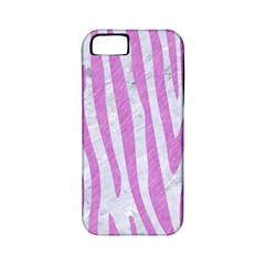 Skin4 White Marble & Purple Colored Pencil Apple Iphone 5 Classic Hardshell Case (pc+silicone)
