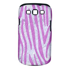 Skin4 White Marble & Purple Colored Pencil Samsung Galaxy S Iii Classic Hardshell Case (pc+silicone)