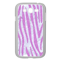 Skin4 White Marble & Purple Colored Pencil Samsung Galaxy Grand Duos I9082 Case (white)