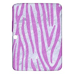 Skin4 White Marble & Purple Colored Pencil Samsung Galaxy Tab 3 (10 1 ) P5200 Hardshell Case