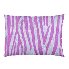 Skin4 White Marble & Purple Colored Pencil Pillow Case (two Sides)