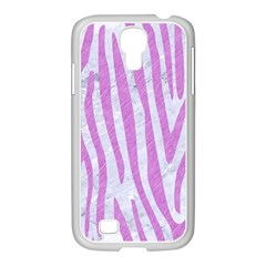 Skin4 White Marble & Purple Colored Pencil Samsung Galaxy S4 I9500/ I9505 Case (white)