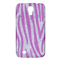 Skin4 White Marble & Purple Colored Pencil Samsung Galaxy Mega 6 3  I9200 Hardshell Case