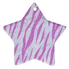 Skin3 White Marble & Purple Colored Pencil (r) Ornament (star)