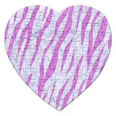 Skin3 White Marble & Purple Colored Pencil (r) Jigsaw Puzzle (heart)