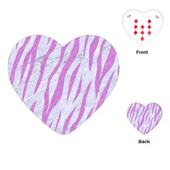 Skin3 White Marble & Purple Colored Pencil (r) Playing Cards (heart)