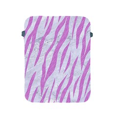 Skin3 White Marble & Purple Colored Pencil (r) Apple Ipad 2/3/4 Protective Soft Cases