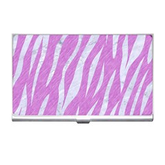 Skin3 White Marble & Purple Colored Pencil Business Card Holders