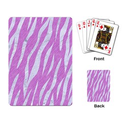 Skin3 White Marble & Purple Colored Pencil Playing Card