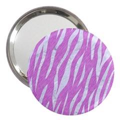 Skin3 White Marble & Purple Colored Pencil 3  Handbag Mirrors