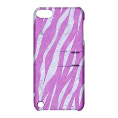 Skin3 White Marble & Purple Colored Pencil Apple Ipod Touch 5 Hardshell Case With Stand by trendistuff