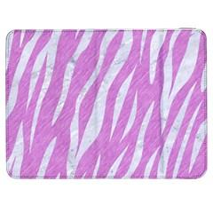 Skin3 White Marble & Purple Colored Pencil Samsung Galaxy Tab 7  P1000 Flip Case