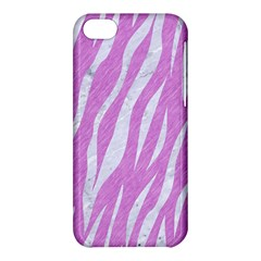 Skin3 White Marble & Purple Colored Pencil Apple Iphone 5c Hardshell Case