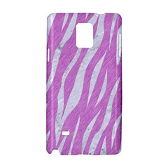 Skin3 White Marble & Purple Colored Pencil Samsung Galaxy Note 4 Hardshell Case