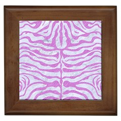 Skin2 White Marble & Purple Colored Pencil (r) Framed Tiles by trendistuff