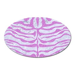 Skin2 White Marble & Purple Colored Pencil (r) Oval Magnet