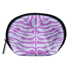 Skin2 White Marble & Purple Colored Pencil (r) Accessory Pouches (medium)
