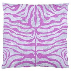 Skin2 White Marble & Purple Colored Pencil (r) Large Flano Cushion Case (one Side)