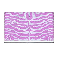 Skin2 White Marble & Purple Colored Pencil Business Card Holders