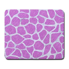 Skin1 White Marble & Purple Colored Pencil (r) Large Mousepads