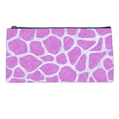 Skin1 White Marble & Purple Colored Pencil (r) Pencil Cases by trendistuff