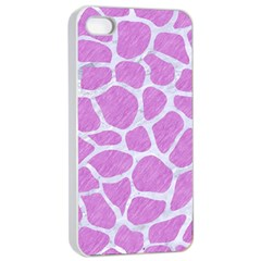 Skin1 White Marble & Purple Colored Pencil (r) Apple Iphone 4/4s Seamless Case (white)