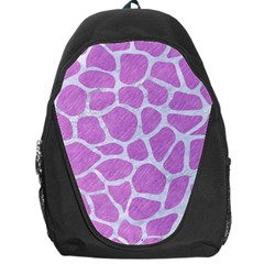 Skin1 White Marble & Purple Colored Pencil (r) Backpack Bag